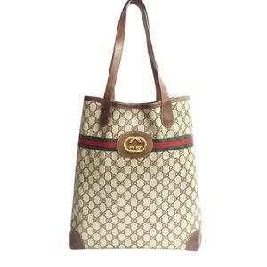 Gucci vintage monogram shopper tote handbag